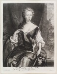 Henrietta Maria Wyvill (née Yarborough), Lady Wyvill, by Isaac Beckett, published by  John Smith, after  Sir Godfrey Kneller, Bt, published circa 1683-1729 - NPG  - © National Portrait Gallery, London