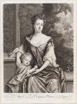Mary Butler (née Somerset), Duchess of Ormonde and her son Thomas, Earl of Ossory, by and published by John Smith, after  Sir Godfrey Kneller, Bt, circa 1693 - NPG  - © National Portrait Gallery, London