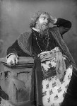 Sir Francis Robert ('Frank') Benson as 'Shylock' in 'The Merchant of Venice', by Alexander Bassano, circa 1885 - NPG  - © National Portrait Gallery, London