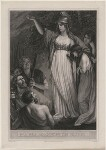 Boadicea Haranguing the Britons (called Boudicca (Boadicea)), by William Sharp, after  John Opie, published 1793 - NPG  - © National Portrait Gallery, London