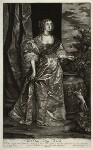 Anne Kirke (née Killigrew), by Isaac Beckett, published by  Alexander Browne, after  Sir Anthony van Dyck, circa 1684 (circa 1637) - NPG  - © National Portrait Gallery, London