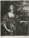 Frances Weston (née Stuart), Countess of Portland, published by Alexander Browne, after  Sir Anthony van Dyck, circa 1684 - NPG  - © National Portrait Gallery, London