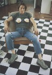 Sarah Lucas ('Self-Portrait with Fried Eggs'), by Sarah Lucas, 1996 - NPG  - © Sarah Lucas
