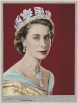 Queen Elizabeth II, by Dorothy Wilding, hand-coloured by  Beatrice Johnson, 26 February 1952 - NPG  - © William Hustler and Georgina Hustler / National Portrait Gallery, London