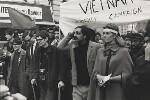 Stephen Hawking; Tariq Ali; Vanessa Redgrave, by Lewis Morley, 27 October 1968 - NPG  - © Lewis Morley Archive