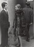 Justin de Villeneuve; Twiggy and an unknown man, by Lewis Morley, 1965 - NPG  - © Lewis Morley Archive / National Portrait Gallery, London