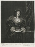 Henrietta Maria, published by Alexander Browne, after  Sir Anthony van Dyck, circa 1680-84 (1632) - NPG  - © National Portrait Gallery, London