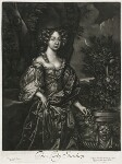 Elizabeth Lyon (née Stanhope), Countess of Strathmore, published by Alexander Browne, after  Sir Peter Lely, circa 1684 - NPG  - © National Portrait Gallery, London