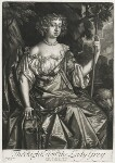 Catherine Grey (née Ford), Lady Grey of Warke, published by Alexander Browne, after  Sir Peter Lely, circa 1684 - NPG  - © National Portrait Gallery, London