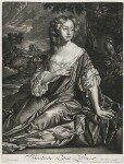 Lucy Loftus (née Brydges), Viscountess Lisburne, published by Alexander Browne, after  Sir Peter Lely, circa 1684 - NPG  - © National Portrait Gallery, London