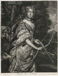 Jane Kelleway as Diana, published by Alexander Browne, after  Sir Peter Lely, circa 1684 - NPG  - © National Portrait Gallery, London