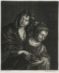 A Boy and Girl with a Bird Nest, published by Alexander Browne, after  Jacob Adriaensz. Backer, circa 1684 - NPG  - © National Portrait Gallery, London