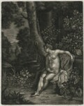 A Naked Woman in a Landscape, published by Alexander Browne, after  Frans van Mieris the Elder, circa 1684 (1665) - NPG  - © National Portrait Gallery, London