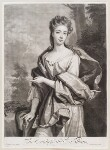 Diana Beauclerk (née de Vere), Duchess of St Albans, by and published by John Smith, after  Sir Godfrey Kneller, Bt, 1694 - NPG  - © National Portrait Gallery, London