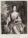 Catherine Manners (née Noel), Duchess of Rutland, by and published by John Smith, after  Sir Godfrey Kneller, Bt, 1689 - NPG  - © National Portrait Gallery, London