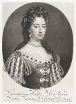 Queen Mary II, by and published by John Smith, after  Sir Godfrey Kneller, Bt, 1695 (1690) - NPG  - © National Portrait Gallery, London