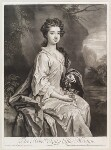 Lady Essex Mostyn (née Finch), by and published by John Smith, after  Sir Godfrey Kneller, Bt, 1705 (1705) - NPG  - © National Portrait Gallery, London