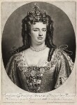Queen Anne, by and published by John Smith, after  Sir Godfrey Kneller, Bt, 1706 (1703) - NPG  - © National Portrait Gallery, London