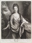 Anne Kynnesman (née Clarke), by and published by John Smith, after  Godfried Schalcken, 1698 - NPG  - © National Portrait Gallery, London