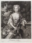 Lucy Loftus (née Brydges), Viscountess Lisburne, by and published by John Smith, after  Sir Godfrey Kneller, Bt, 1685 - NPG  - © National Portrait Gallery, London