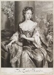 Anne Gerard (née Mason), Countess of Macclesfield when Viscountess Brandon, by John Smith, published by  Edward Cooper, after  Willem Wissing, 1687 - NPG  - © National Portrait Gallery, London