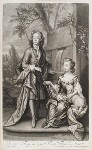 William Villiers, 2nd Earl of Jersey; Mary Granville (née Villiers) Lady Lansdowne, by and published by John Smith, after  Sir Godfrey Kneller, Bt, 1700 - NPG  - © National Portrait Gallery, London