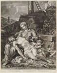 Lamentation, by Isaac Beckett, published by  John Smith, after  Annibale Carracci, 1684 (1599-1600) - NPG  - © National Portrait Gallery, London