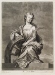 Mrs Cross as St Catherine, by and published by John Smith, after  Sir Godfrey Kneller, Bt, 1697 - NPG  - © National Portrait Gallery, London