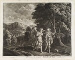 Tobias and the Angel, by and published by Bernard Lens (II), printed and sold by  John King, after  Jacob Symonsz. Pynas (Pinas), 1680-1700 - NPG  - © National Portrait Gallery, London