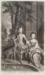 Lionel Sackville, 1st Duke of Dorset; Mary Somerset (née Sackville), Duchess of Beaufort, by and published by John Smith, after  Sir Godfrey Kneller, Bt, 1695 - NPG  - © National Portrait Gallery, London