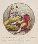 King George III, by Thomas Rowlandson, published by  I. Jones, published 10 December 1781 - NPG  - © National Portrait Gallery, London