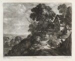 Landscape, by Bernard Lens (II), published by  John Smith, after  Paul Bril, after 1684 - NPG  - © National Portrait Gallery, London