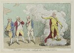 'Malagrida and conspirators, consulting the ghost of Oliver Cromwell', by James Gillray, published by  Elizabeth d'Achery, published June 1782 - NPG  - © National Portrait Gallery, London