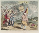 Samuel Johnson ('Apollo and the muses, inflicting penance on Dr Pomposo, round Parnassus'), by James Gillray, published by  William Holland, published 29 July 1783 - NPG  - © National Portrait Gallery, London