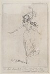 Marie-Madeleine Guimard ('The celebrated Mademoiselle G-m-rd or Grimhard from Paris'), by James Gillray, published by  Hannah Humphrey, published 26 May 1789 - NPG  - © National Portrait Gallery, London