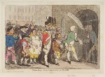 'Election-troops, bring in their accounts, to the pay-table' (Edward Topham; William Pitt), by James Gillray, published by  Hannah Humphrey, published 14 August 1788 - NPG  - © National Portrait Gallery, London