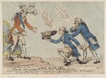 'Neddy's black box' (King George IV; King Charles I (head of); Edmund Burke; Richard Brinsley Sheridan), by Thomas Rowlandson, published by  Samuel William Fores, published 30 January 1789 - NPG  - © National Portrait Gallery, London