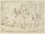 'Bandelures' (King George IV; Maria Anne Fitzherbert (née Smythe); Richard Brinsley Sheridan), by James Gillray, published by  Samuel William Fores, published 28 February 1791 - NPG  - © National Portrait Gallery, London
