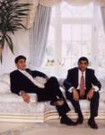 Vijay Patel; Bhikhu Patel, by Tom Miller, 6 November 2001 - NPG  - © National Portrait Gallery, London