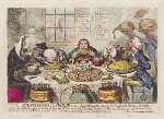 'Substitutes for bread; - or - right honorables, saving the loaves, and dividing the fishes', by James Gillray, published by  Hannah Humphrey, published 24 December 1795 - NPG  - © National Portrait Gallery, London