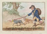'John Bull and his dog Faithful' (William Pitt; Charles James Fox; Richard Brinsley Sheridan; Charles Grey, 2nd Earl Grey), by James Gillray, published by  Hannah Humphrey, published 20 April 1796 - NPG  - © National Portrait Gallery, London