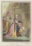 'A peep at Christies; - or - tally-ho, and his Nimeny-pimmeney taking the morning lounge', by James Gillray, published by  Hannah Humphrey, published 24 September 1796 - NPG  - © National Portrait Gallery, London
