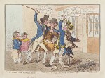 'The caneing in Conduit Street' (Thomas Pitt, 2nd Baron Camelford; George Vancouver), by James Gillray, published by  Hannah Humphrey, published 1 October 1796 - NPG  - © National Portrait Gallery, London