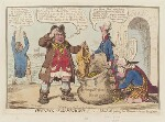 'Opening of the budget; - or - John Bull giving his breeches to save his bacon', by James Gillray, published by  Hannah Humphrey, published 17 November 1796 - NPG  - © National Portrait Gallery, London