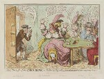 'The loss of the faro bank; or - the rook's pigeon'd', by James Gillray, published by  Hannah Humphrey, published 2 February 1797 - NPG  - © National Portrait Gallery, London