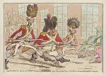 'St George's volunteers charging down Bond Street', by James Gillray, published by  Hannah Humphrey, published 1 March 1797 - NPG  - © National Portrait Gallery, London