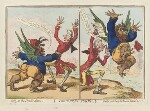 'The table's turn'd' (Charles James Fox; William Pitt), by James Gillray, published by  Hannah Humphrey, published 4 March 1797 - NPG  - © National Portrait Gallery, London