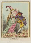 'Le baiser a la Wirtembourg' (Charlotte Augusta Matilda, Princess Royal; Friedrich I, King of Württemberg), by James Gillray, published by  Hannah Humphrey, published 15 April 1797 - NPG  - © National Portrait Gallery, London