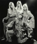 Pattie Boyd; Cynthia Lennon; Maureen Starr (née Cox, later Tigrett); Helen Mary ('Jenny') Fleetwood (née Boyd), by Ronald Traeger, September 1967 - NPG  - © estate of Ronald Traeger