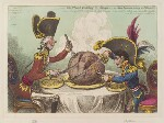 'The plumb-pudding in danger: - or - state epicures taking un petit souper' (William Pitt; Napoléon Bonaparte), by James Gillray, published by  Hannah Humphrey, published 26 February 1805 - NPG  - © National Portrait Gallery, London